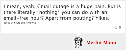 My Toot about the Gmail outage